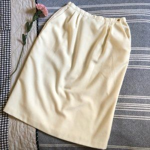 Vintage Cozy Wool Cream Skirt